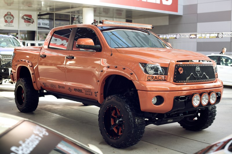 toyota tundra orange sema