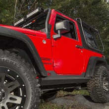 Rugged Ridge XHD Rock Sliders Installed 2-Door- High Res