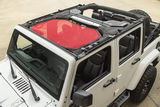 Rugged Ridge Eclipse Sun Shade Half- Red-Installed (High Res)