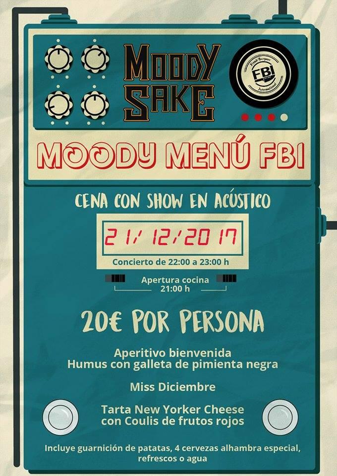Acústico de Moody Sake y cena en FBI: El combo perfecto
