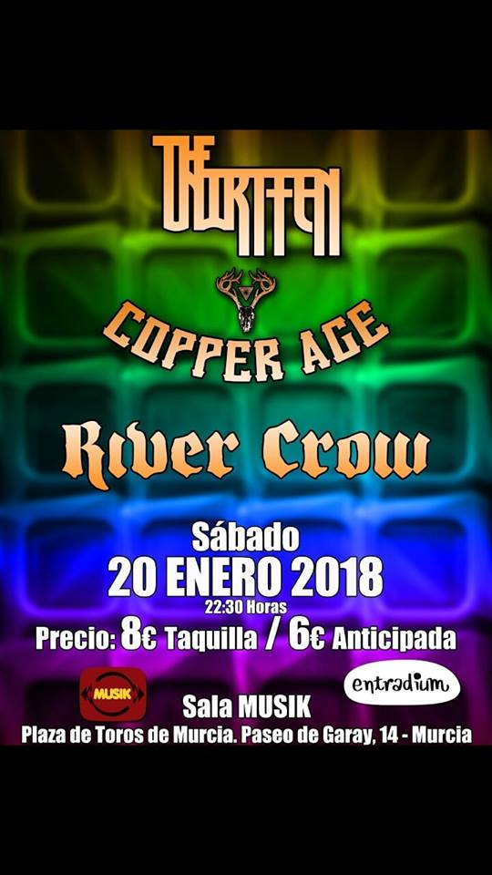 Agenda: The Unwritten, Copper Age y River Crow en la sala Musik