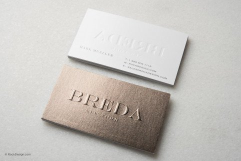 Let our templates represent your BRAND   RockDesign com Sparkling modern business card template   Breda