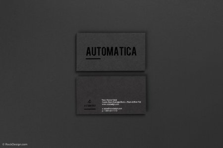 Free high end black business card template   RockDesign com Free black business card template with black and silver foil stamping 4