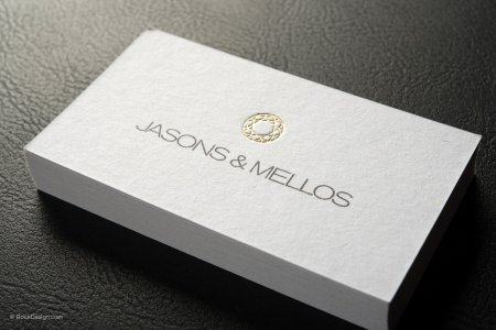 ORDER Textured gold foil cards ONLINE    RockDesign com CLASSIC PREMIUM WHITE UNCOATED WITH GOLD FOIL STAMPING BUSINESS CARD  TEMPLATE   JASONS   MELLOS