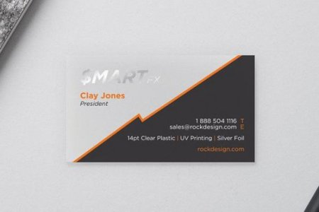 BUSINESS CARD TEMPLATES clear cards 510005  Sleek clear plastic business card template