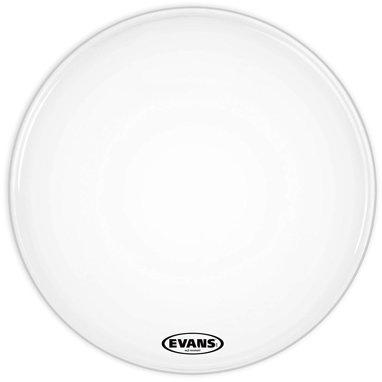Evans 22 Eq3 Smooth White No Port Version Bass Drum Head
