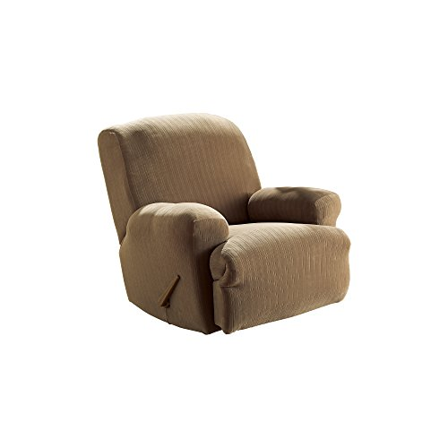Sure Fit Stretch Pinstripe 1 Piece Recliner Slipcover Taupe Sf35818 Rocker Recliner Shop