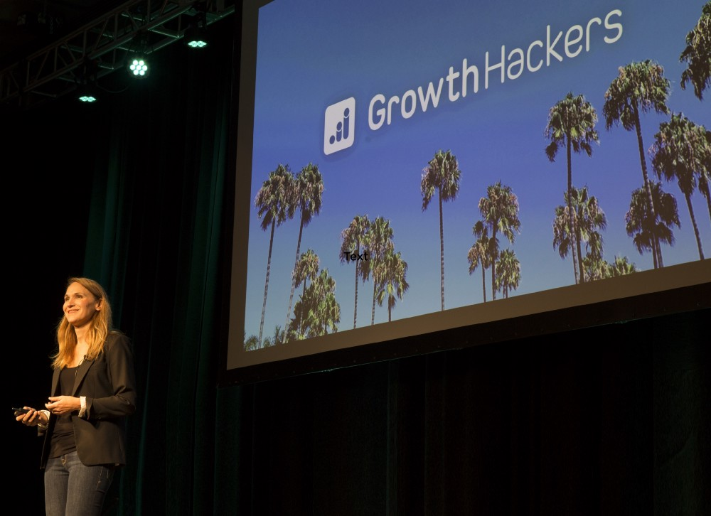 April Dunford talks growth and context at GrowthHackers Conference 2018