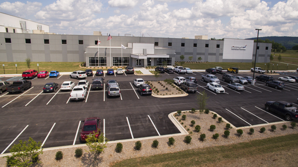 Aerojet Rocketdyne's new 136,000 square-foot Advanced Manufacturing Facility located at 7800 Pulaski Pike in Huntsville, Alabama, will produce advanced propulsion products such as solid rocket motor cases and other hardware for critical U.S. defense and space programs