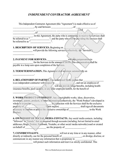 Construction Subcontractor Agreement Template sample construction – Simple Construction Contract