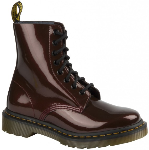 dr martens boot cherry color shine