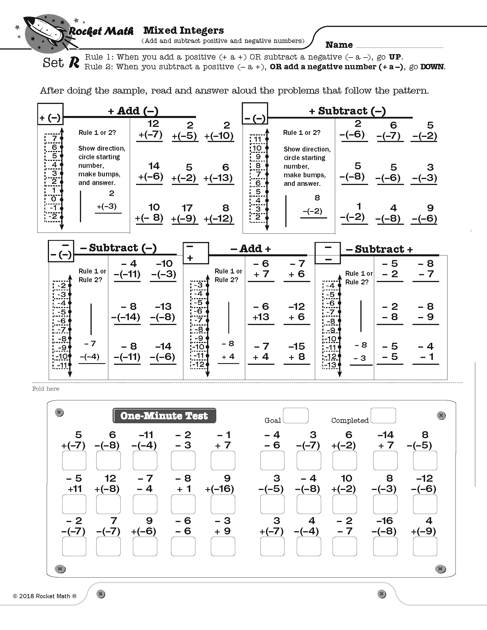 Mixed Interger Products For Addition And Subtraction