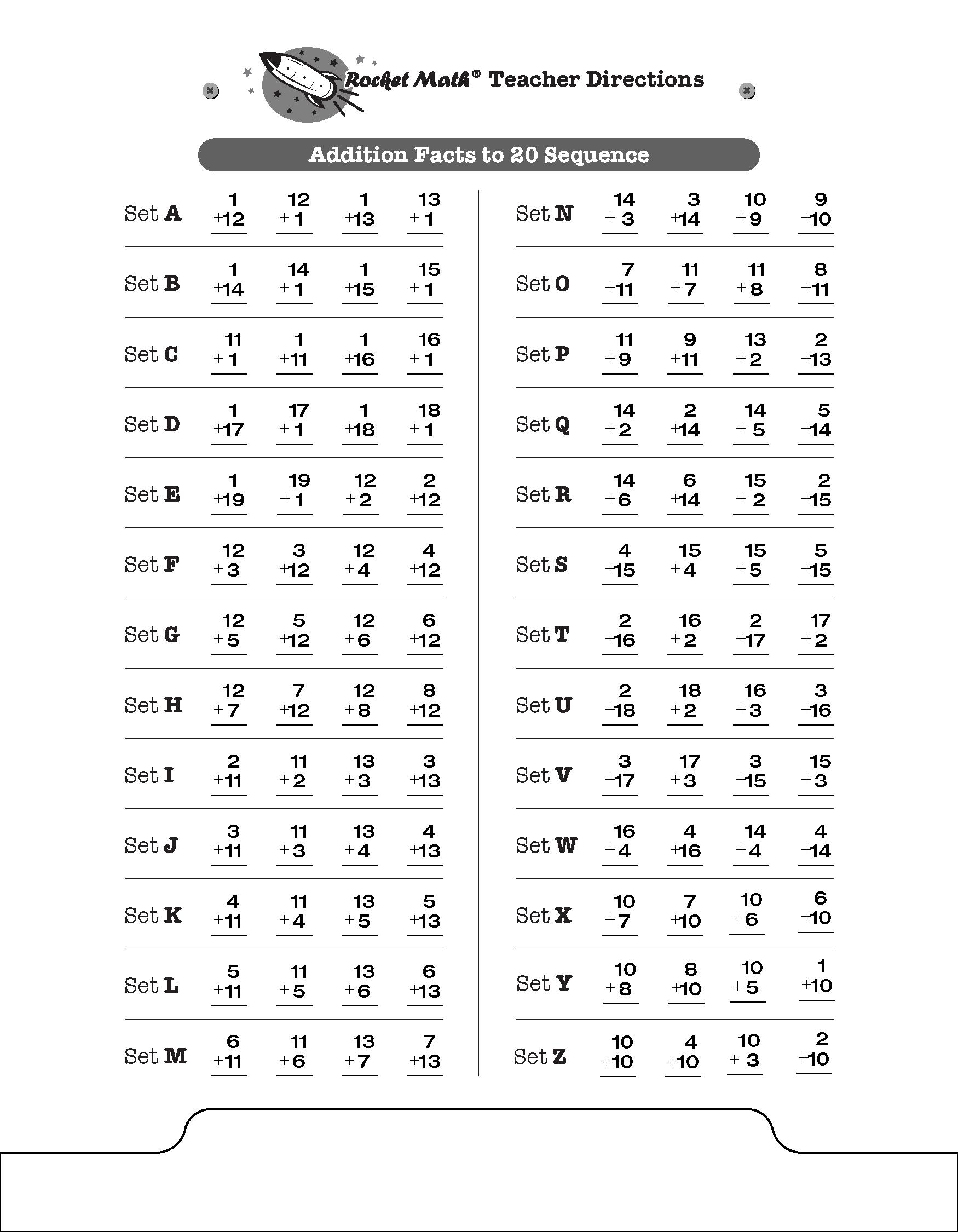 Add To 20 E G 13 6 4 11 15 5