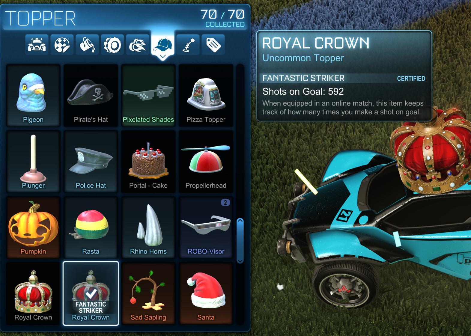Rocket League Certified Items Guide How To Get Certified Items And Increase Their Levels