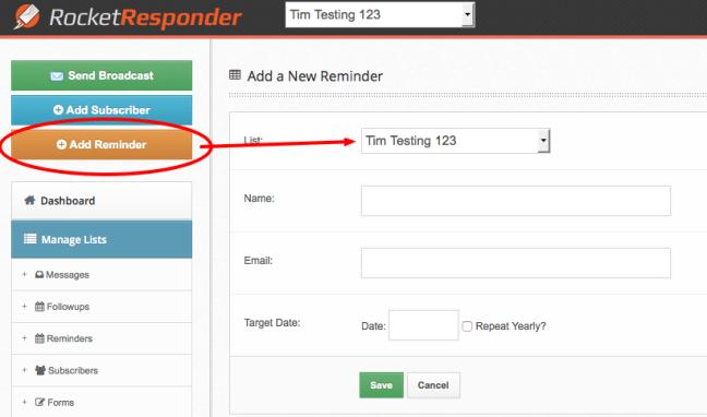 sending email reminders is easy with RocketResponder Reminders