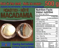 Macadamia label
