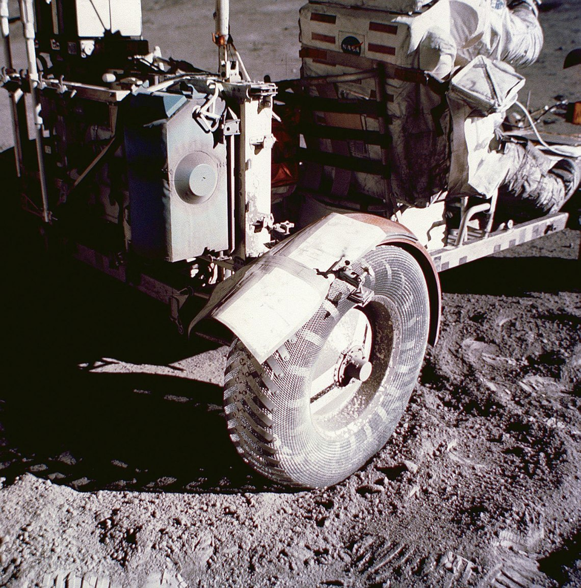 The improvised new fender. Credit: NASA
