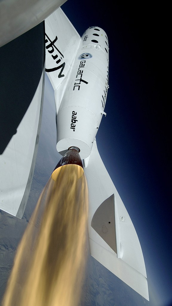 SpaceShipTwo  Photo: Virgin Galactic