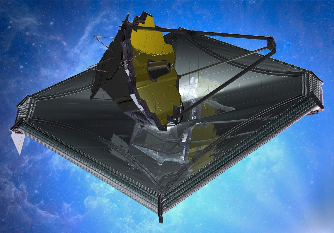 An artist's impression of the James Webb Space Telescope. Image: Northrop Grumman
