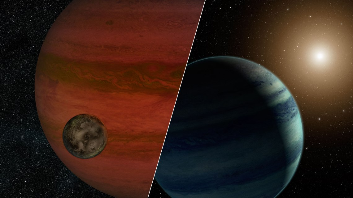 "Researchers have detected the first ""exomoon"" candidate – a moon orbiting a planet that lies outside our solar system. Credit: NASA/JPL-Caltech"