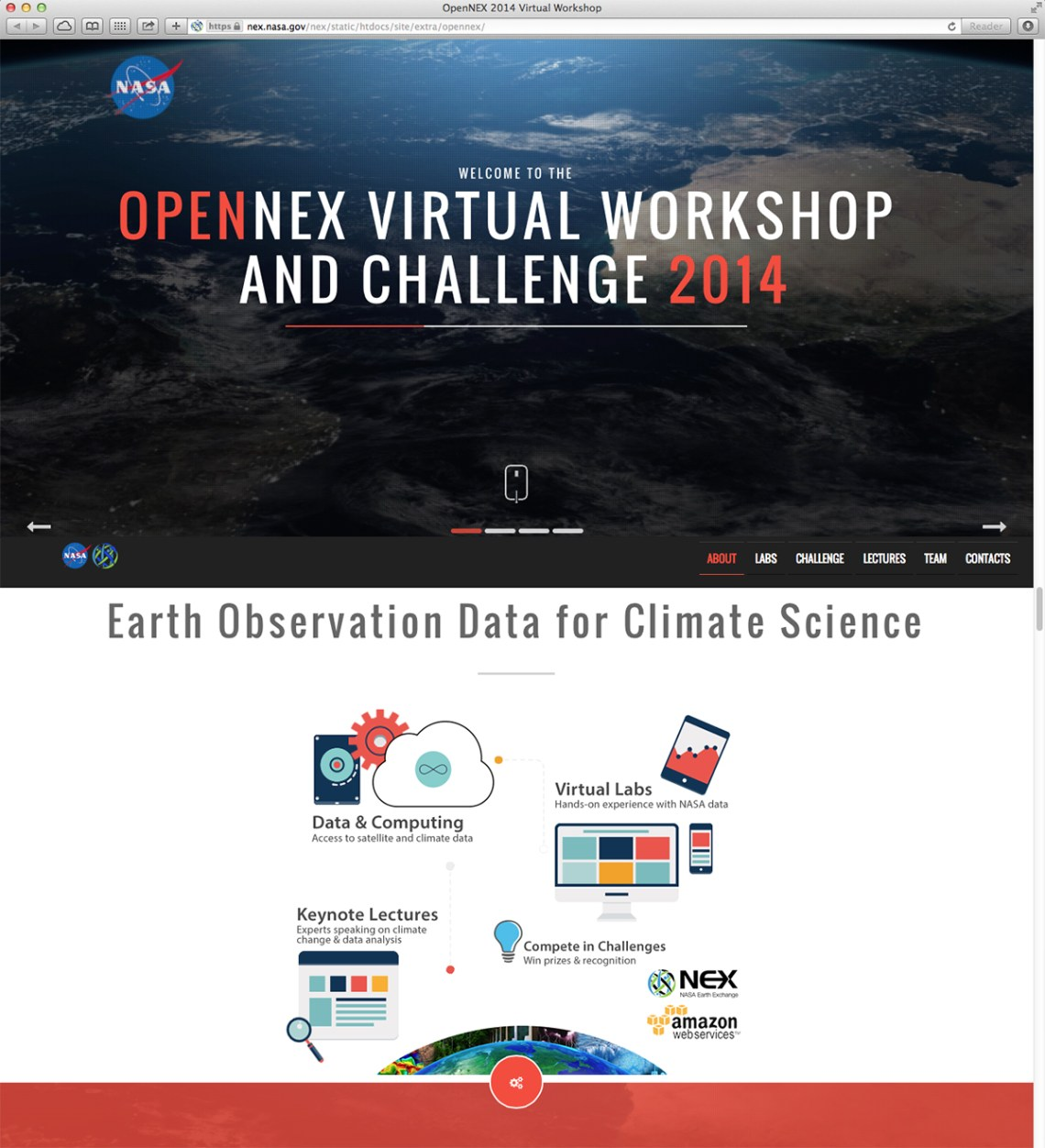 NASA OpenNEX Webpage