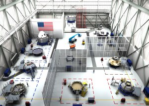 An artist's rendering of the processing facility for the Boeing CST-100 being constructed at Kennedy Space Center. Credit: Boeing