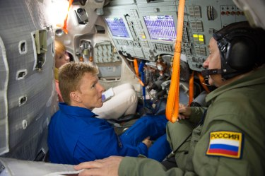 Tim Peake during training inside the full-scale mockup of the Soyuz capsule, at the Gagarin Cosmonaut Training Centre, in Russia. Credits: ESA/S. Corvaja