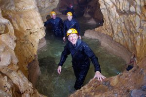 Tim Peake spent five days exploring caves in Sardinia as part of his training. Credit: ESA