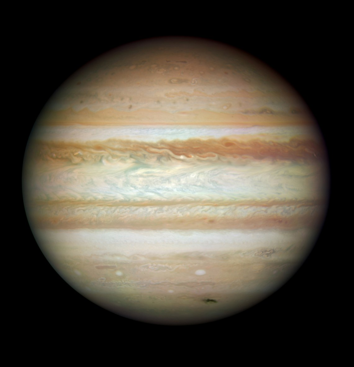 HUBBLE'S TOP 100 •#42 • Credit: NASA, ESA, Michael Wong (Space Telescope Science Institute, Baltimore, MD), H. B. Hammel (Space Science Institute, Boulder, CO) and the Jupiter Impact Team