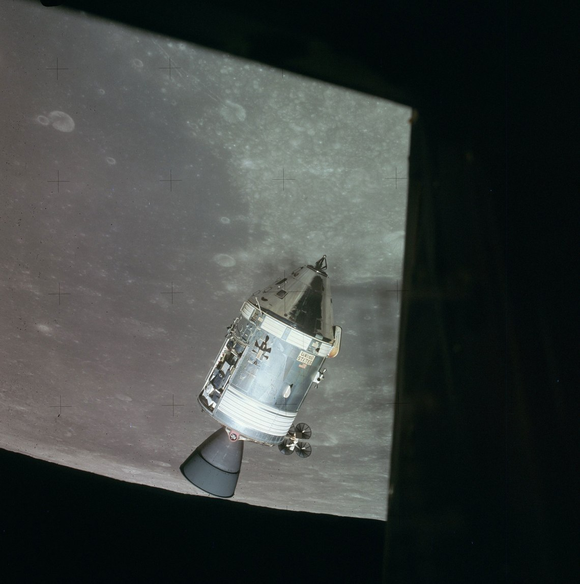 The Apollo 15 spacecraft was modified to carry out a greater range of lunar orbital science activities than any previous mission. Credit: NASA