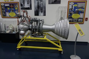 A Second Stage rocket engine for the old Titan rocket. Credit: Lloyd Campbell