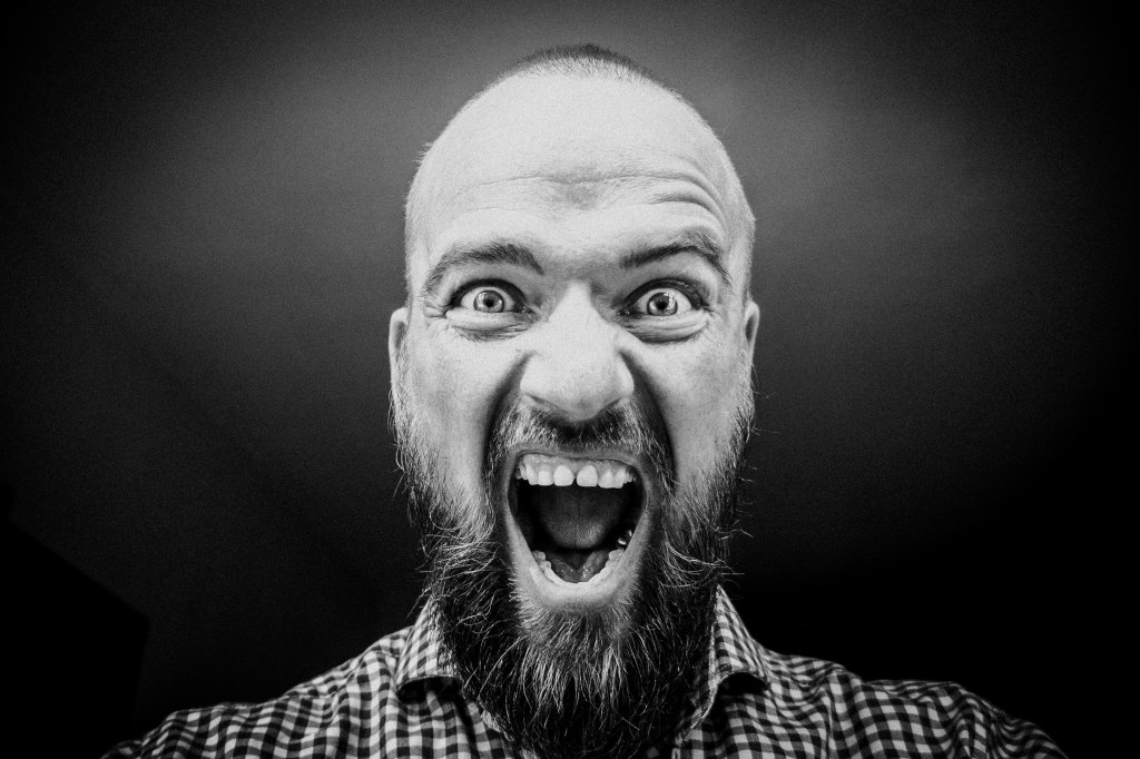 picture of a man screeming