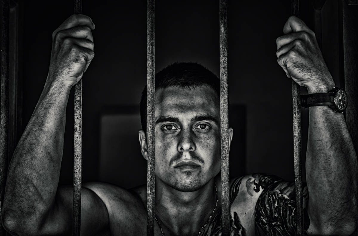 picture of a man in jail