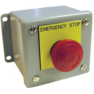 Remote Station With SelfLatching Emergency Stop Button