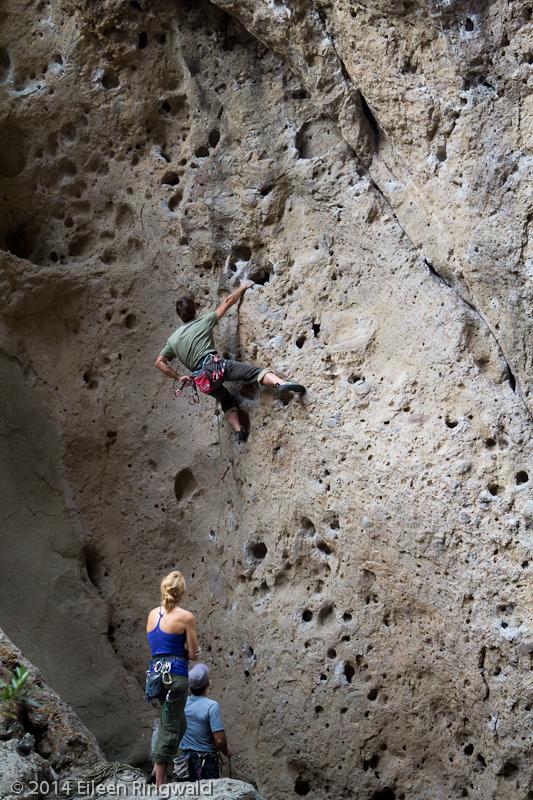 Peter Croft climbing in Malibu Creek