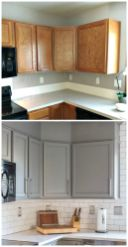 Rustic And Classic Wooden Kitchen Cabinet 15