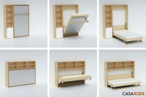Saving space with creative folding bed ideas 10