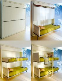 Saving space with creative folding bed ideas 12