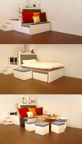 Saving space with creative folding bed ideas 17