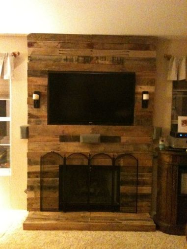 Artistic Pallet, Peel and Stick Wood Wall Design and Decorations 69