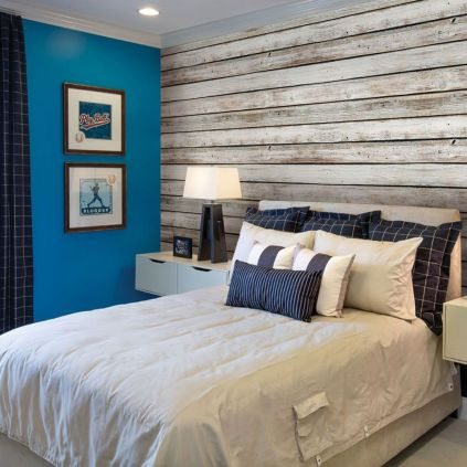 Artistic Pallet, Peel and Stick Wood Wall Design and Decorations 74