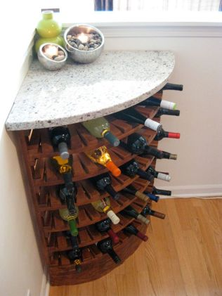 Corner bar cabinet for coffe and wine places 12