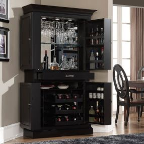 Corner bar cabinet for coffe and wine places 31