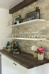 Corner bar cabinet for coffe and wine places 33