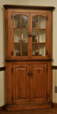 Corner bar cabinet for coffe and wine places 46