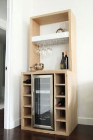 Corner bar cabinet for coffe and wine places 49