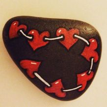 Creative diy painting rock for valentine decoration ideas 29