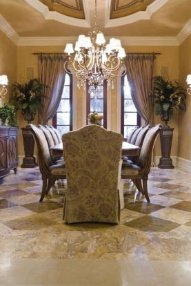 Glorious and Luxury Western Dining Room Design 27
