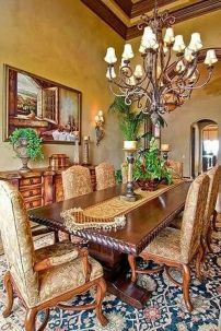 Glorious and Luxury Western Dining Room Design 36