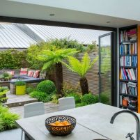 Small courtyard garden with seating area design and layout 120